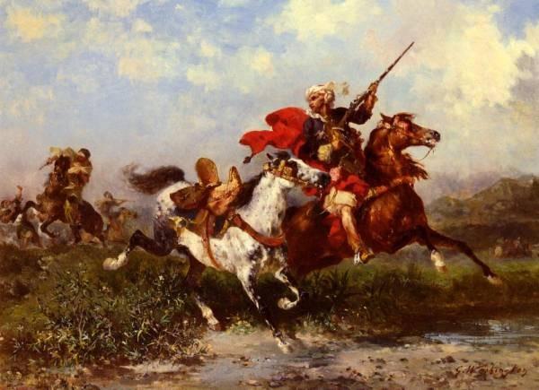 Combats De Cavaliers Arabes